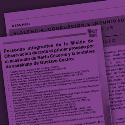 Informes sobre los procesos judiciales contra David Catillo